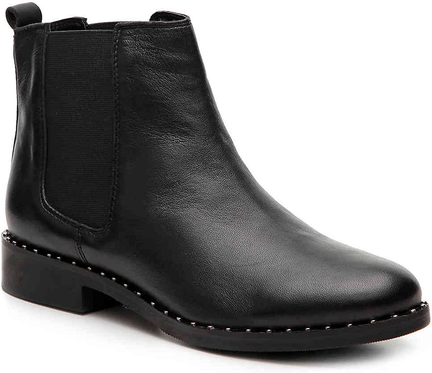 Steve Madden Womens Indya Chelsea Ankle Boots Black Leather Pull on Size 5.5 M