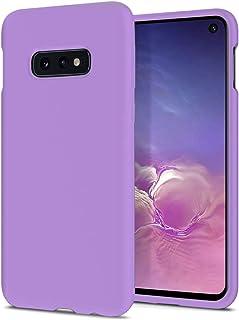ZUSLAB Nano Silicone Case Compatible with Samsung Galaxy S10e Shockproof Gel Rubber Bumper Protective Cover - Purple
