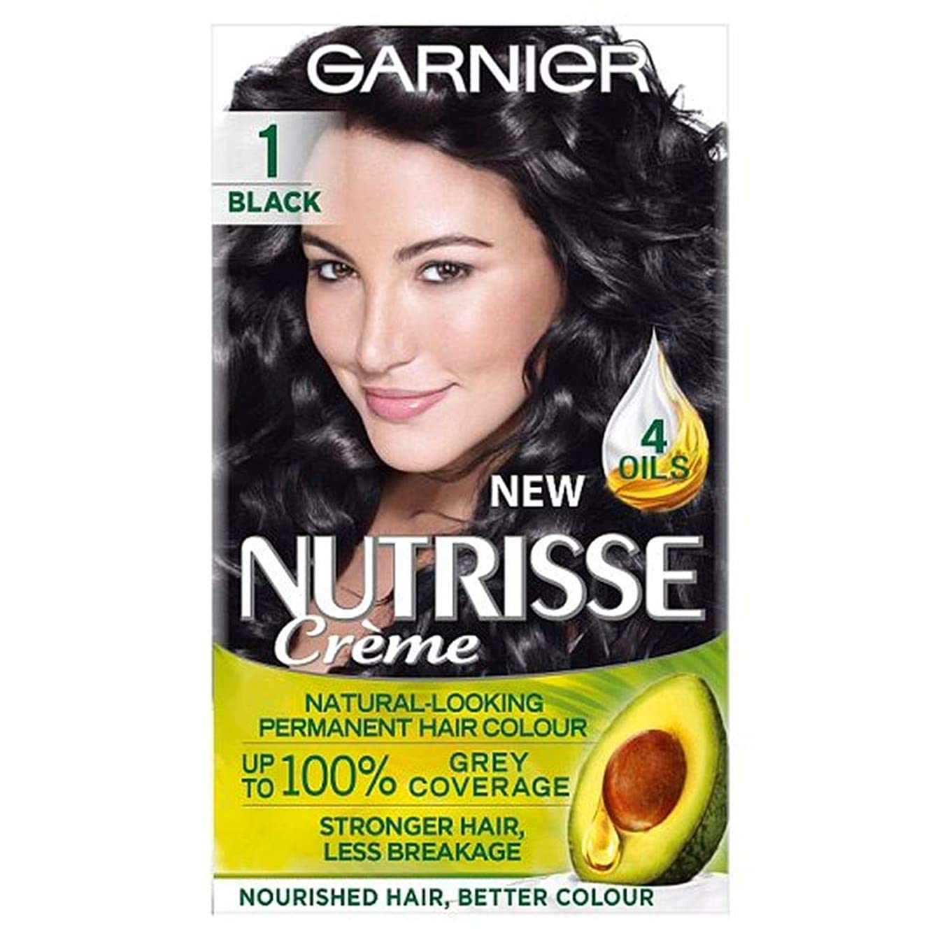 タクト選択する早い[Nutrisse] ガルニエNutrisse 1黒のパーマネントヘアダイ - Garnier Nutrisse 1 Black Permanent Hair Dye [並行輸入品]