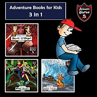 Adventure Books for Kids: 3-in-1 Children's Diaries About Heroes and Villains cover art