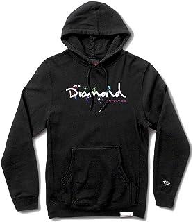 Diamond Supply Co Colour Box Logo Hoodie Black