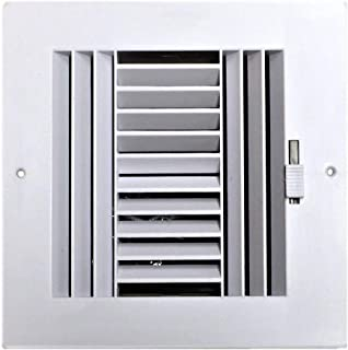 HBW Four-Way Plastic Side Wall/Ceiling Register in White 6