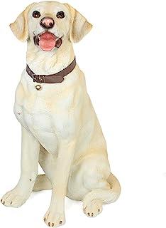 xiaokeai Super Simulation Dog Statue Living Room and Garden Collection Resin Animal Sculpture Garden Gift Home Outdoor Dec...