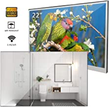 Soulaca 22 inches Bathroom Magic Mirror LED TV Android 7.1 IP66 Waterproof Embedded Shower Television
