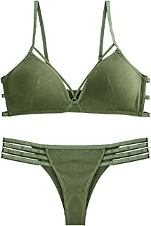 Care Thin Girls Sexy Gathered Bra Set, Nylon, no Steel Ring, Adjustable Chest, Adjustable Shoulder Strap, Two Rows of Buck...