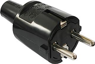 as - Schwabe Rubberen stekker 230 V/16 A zonder kabel – PVC Schuko-stekker met dubbel geaard contact – geaarde stekker voo...