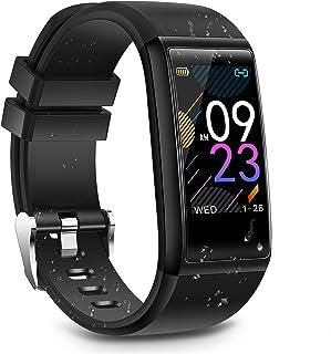 Smartklocka fitnessmätare, vattentät sportklocka aktivitetsmätare smart armband med puls blodtryck sömnmätare stegräknare ...