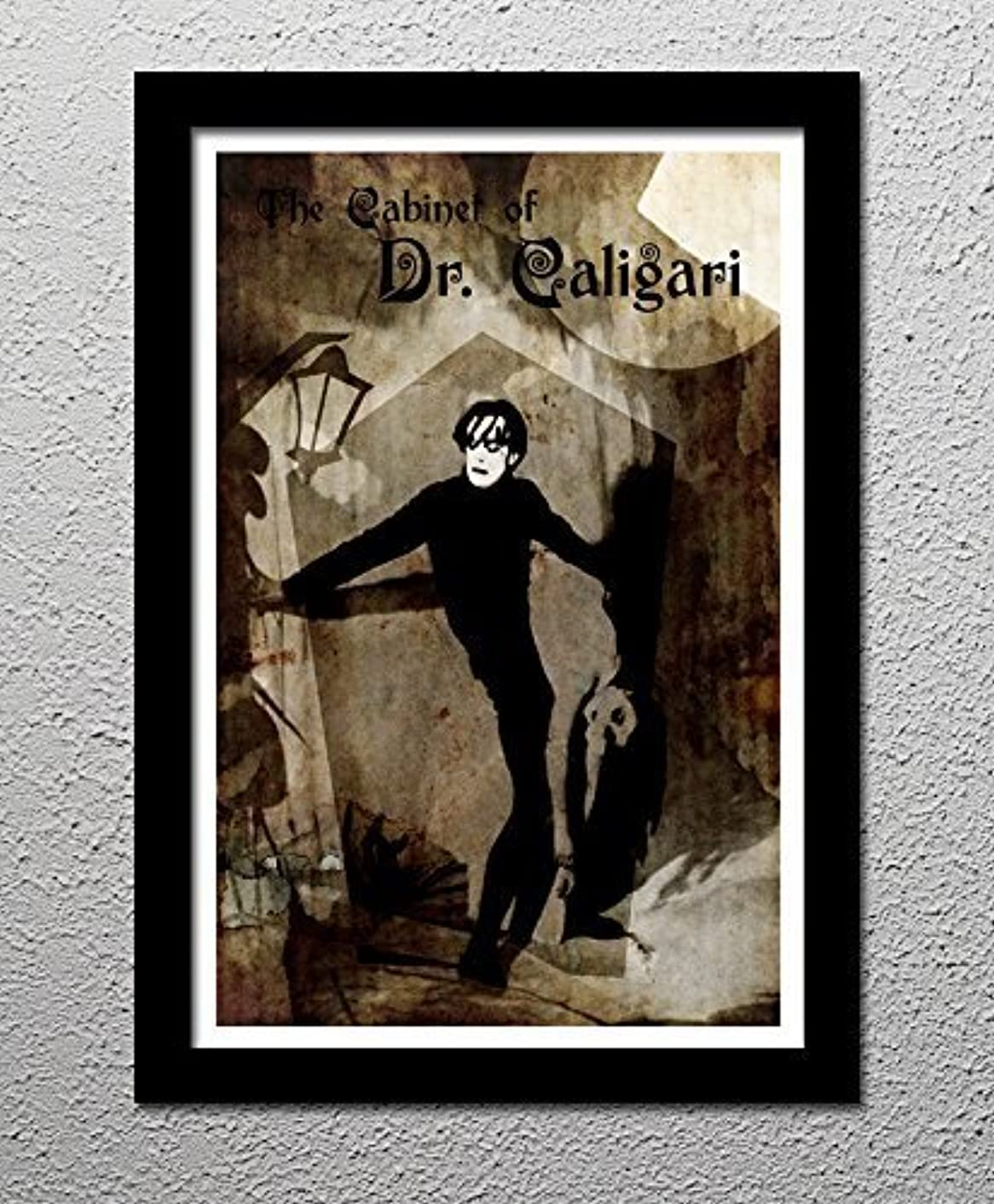 The Cabinet of Dr Caligari - The Somnambulist - Horror Movie Cult Original Art Poster Print
