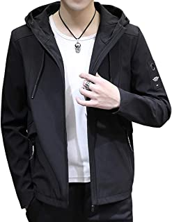Sukinana ジャケット メンズ 秋冬 カジュアル 防風防寒 フード付き アウター 大きいサイズ おしゃれ メンズ 服 軽量 コート