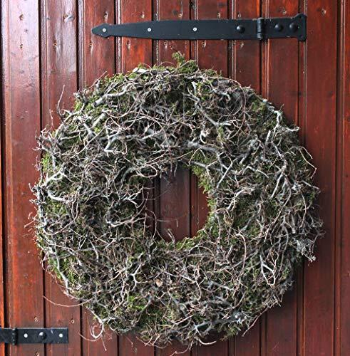 Homeclassics Großer Kranz 65 cm Moos Wandkranz Kranz Naturkranz Grün Weidenkranz