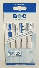 Bohrcraft–Sierra de calar CV, dientes cónico, oblicuo, puntiaguda (dentado, ZT 1,35x 50mm Longitud en tarjeta de 5unidades, 1pieza, 19601600002