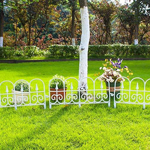 Stronrive Dekorativer Gartenzaun Kunststoff Beetzaun 5 Stück Teichzaun Garten Dekozaun Dekorativer Zaun Gartenzaun für die Landschaftsgestaltung, Gartenzaun Tierbarriere - 23in x 13in
