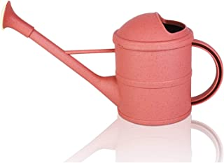 Outdoor Watering cans for Garden Plants 1.6L with Long Spout Removable Shower Head Small Watering Pot (1.6 L, Brick Red)