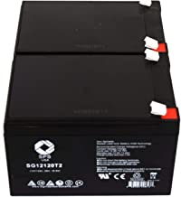SPS Brand 12V 12Ah Replacement Battery for Currie iZip 650 Scooter Electric Bike (2 Pack)