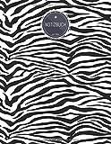 ZMUDACE Notizbuch Liniert: DIN A4 Softcover | 'ZB250 Zebra Muster' |156 leere Seiten mit persönlichem Register + Seitenzahlen |Schreibheft, ... Schulheft, Dickes Notizheft (German Edition)