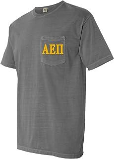 Alpha Epsilon Pi AEPI Fraternity Comfort Colors Pocket T-Shirt