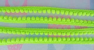 Lime Green Mini Pom Pom Fringe Embellishments Lace Trim Woven Bobble Ball Pompom Sewing Tape Ribbon