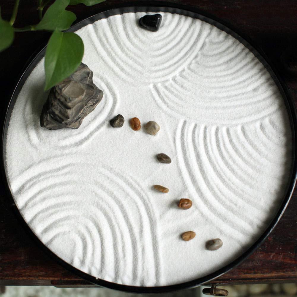 Laogg Jardin Zen Nanshan Seco De Montaña Mesa De Arena Conjunto Japonesa Zen Micro Estudio De Paisaje Decoración del Sitio De Interio: Amazon.es: Hogar