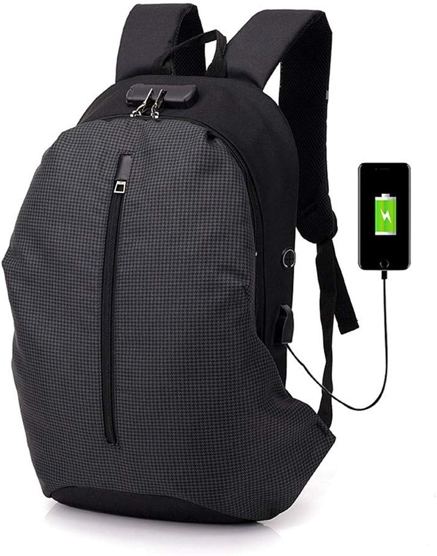 TDPYT Multi Funktion USB Lade Rucksack Vorne Montiert Bequem Große Kapazität Reisen Schulter Zurück Gitter Schwarz B07H86D3ZX  Ausgewählte Materialien