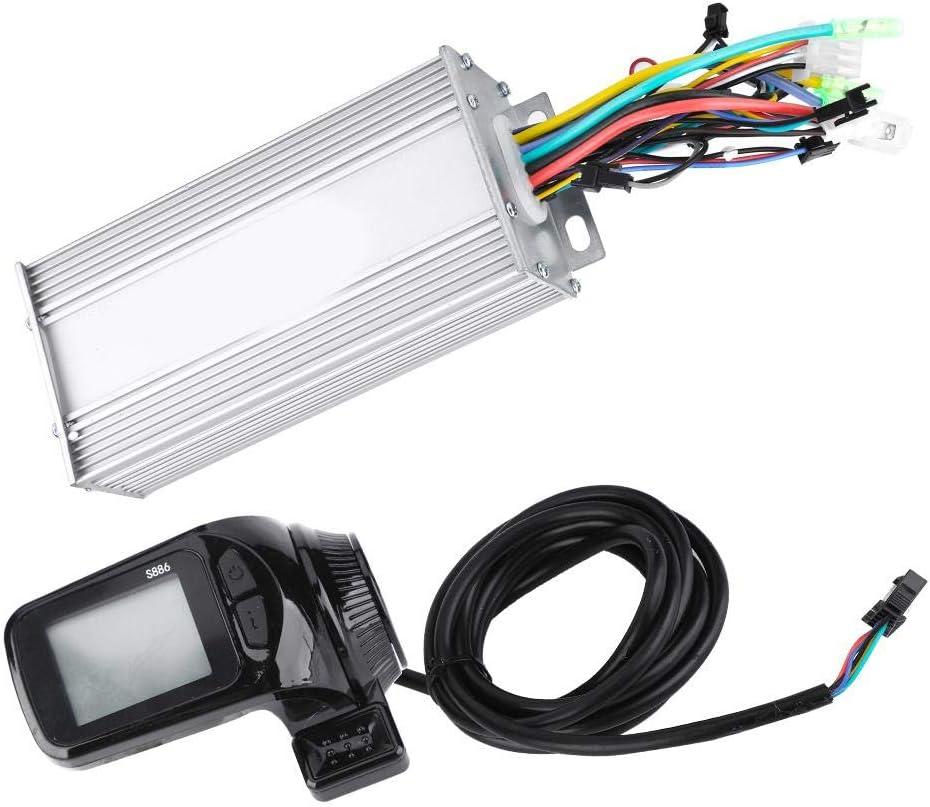 Controlador sin escobillas de motor E-Bike, 24V/36V/48V/60V 1000W Panel LCD impermeable Kit de controlador sin escobillas de motor para bicicleta eléctrica Scooter de bicicleta eléctrica(1000W48V)
