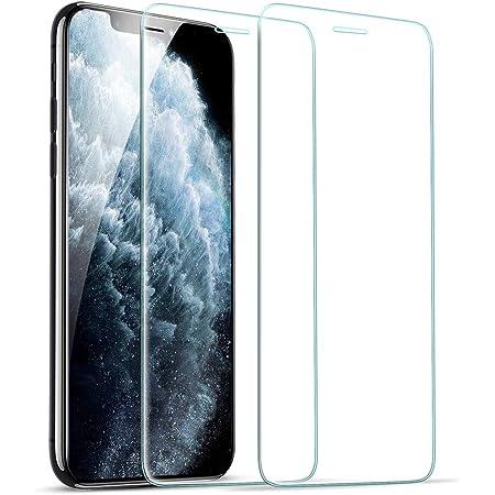 ESR iPhone 11 Pro ガラスフィルム iPhone Xs/iPhone X 用強化ガラスフィルム [簡単貼り付けガイド枠] [ケースと相性バッチリ] iPhone 11 Pro/Xs/X用強化ガラス液晶保護フィルム [2枚セット]