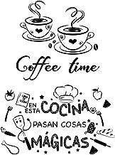 2pcs Pegatinas Pared Cocina Decorativas con Frases Españoles Vinilos Letras Stickers Adhesivos Comedor Cafetería Restauran...
