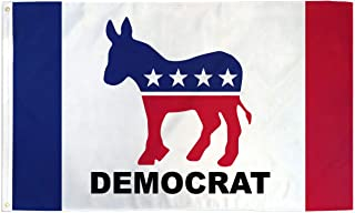 Best Flags Democrat (New) 3x5' Poly Flag, Multicolor