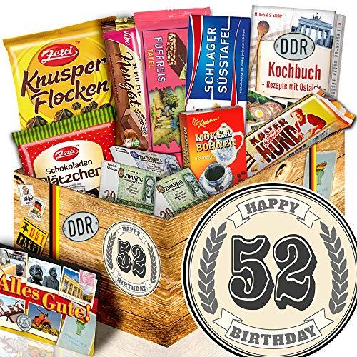 Geschenk zum 52. / Ostpaket für Männer / Geburtstag Set 52 Geschenke witzig