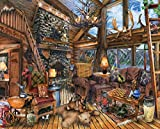 Springbok Puzzles - The Hunting Lodge - 1000 Piece Jigsaw Puzzle - Large 30 Inches by 24 Inches Puzzle - Made in USA - Unique Cut Interlocking Pieces