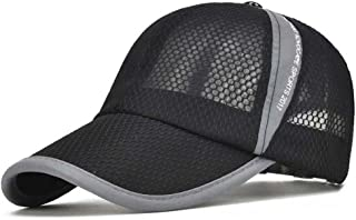 کلاه های بیس بال تابستانی CRYSULLY Unisex Sun Sun Cap سبک وزن کلاه های سریع و سریع قابل تنظیم کلاه های خنک کننده ورزشی