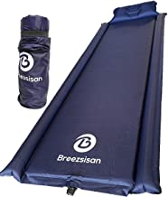 Breezsisan Camping Sleeping Pad. Self Inflating Foam Pads with Attached Pillow for: Outdoor, Backpack, Hiking, Hammock, Cot -4 Season- Youth Gift-Inflatable Queen Size Bed-Light Indoor Air Mattress
