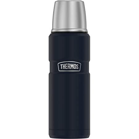 THERMOS Stainless King SK2000 Vacuum-Insulated Compact Bottle, 16 Ounce, Matte Blue