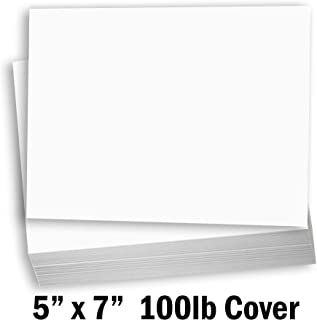 Hamilco White Cardstock Thick Paper - Blank Index Flash Note & Post Cards - Greeting Invitations Stationary 5 X 7