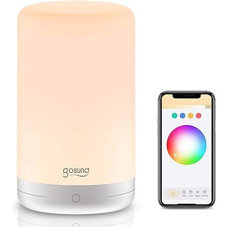 2,4 GHz luz nocturna LED t/áctil para dormitorio y estudio con color y brillo ajustables Gosund Smart Home Alexa L/ámpara de mesa compatible con Alexa y Google Home