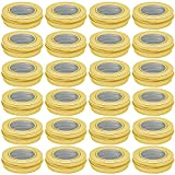 Hulless 0.5 oz Aluminum Tin Jar 15 ml Refillable Containers Clear...