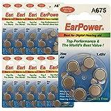 Piles auditives Earpower 675 zinc-air longue durée en lot de 10 (60 piles auditives) compatibles avec toutes les marques des appareils auditifs. Code couleur : bleu Validité 4 ans Piles auditives compatibles avec les appareils digitaux et analogiques...