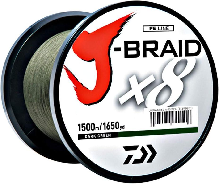 Multi Color 500m//546yd Daiwa J-Braid X8 Braided Fishing Line