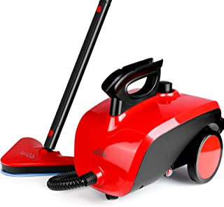 بخار شوی SIMBR ، بخار بخار چند منظوره با 18 لوازم جانبی ، تمیز کردن بخار خانگی بدون مواد شیمیایی 1500 وات 1.5 لیتری 1.5 لیتری برای کف ، فرش ، ویندوز ، خودرو و موارد دیگر
