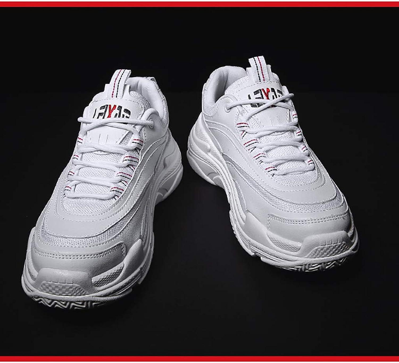 TTRR Increase sports shoes men's Korean version of the trend of casual white shoes tide shoes couple autumn men's shoes