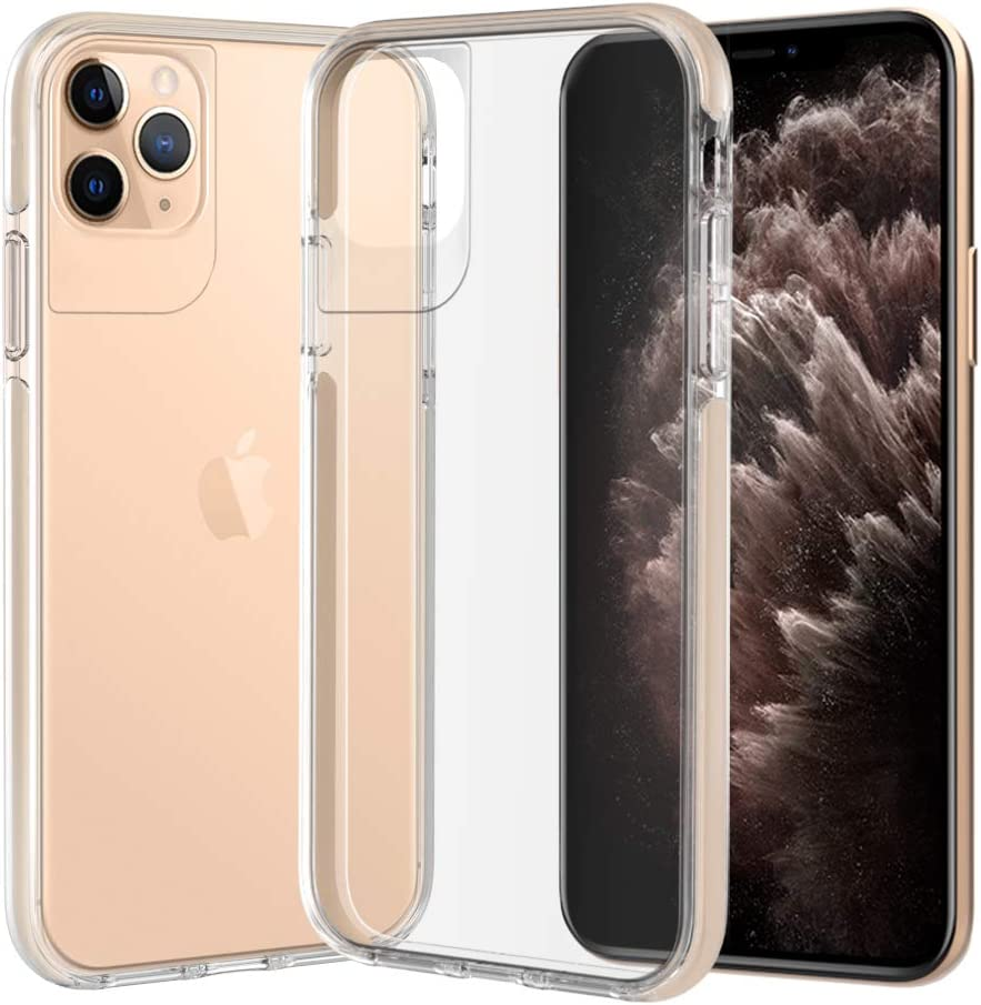 ismabo Case for iPhone 11 Pro Max Clear Protective Case[Military Grade Drop Tested] Slim Thin Anti-Drop Clear Hard Back and Soft Bumper Shockproof Cover Case for iPhone 11 Pro Max 6.5