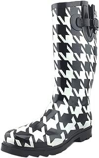 Women's Pattern Print Colorful Waterproof Welly Rain Boots