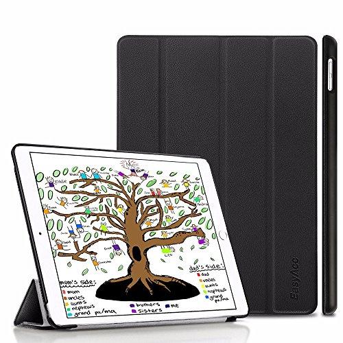 EasyAcc Hülle für iPad 9.7 2018 iPad 6 Generation/2017 iPad 5 Generation, Ultra Dünn Leichtgewicht Smart Cover mit Auto aufwachen/Schlaf & Standfunktion für iPad 9.7 Zoll, Schwarz