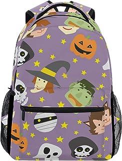 FAJRO Happy Halloween Mochila de viaje bolso escolar