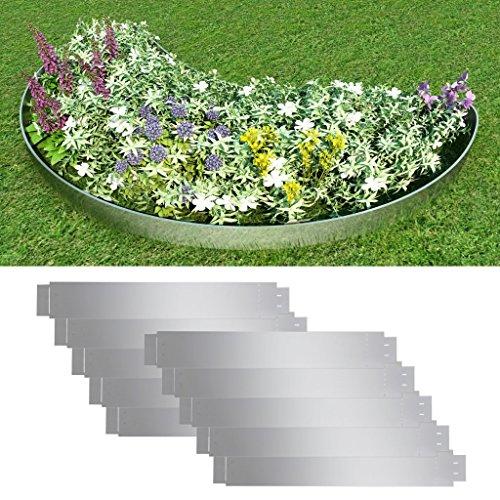 Preisvergleich Produktbild Festnight Rasenkante Beeteinfassung Wegbegrenzung aus Stahl 100 x 15 cm 10er Set