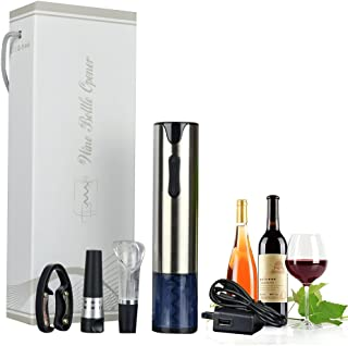 Maruen 電動ワインオープナー ワインセーバー USBケーブル付き フォイルカッター 真空ボトルストッパー搭載 コルクスクリュー 栓抜き ワインコルク抜き プレゼント お祝い