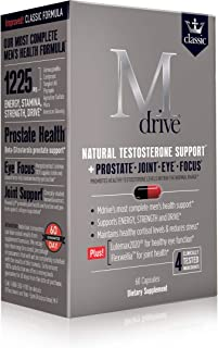 Mdrive Classic - Natural Testosterone Booster, KSM-66 Ashwagandha, Beta-Sitosterols, Lutein, Zeaxanthin, Boswellia - Energy, Stress Relief, Healthy Prostate, Eye and Joint Support, 60 Capsules