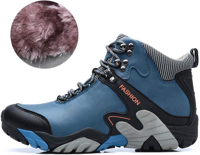 Herren Wanderschuhe Wasserdicht Schneestiefel Outdoor Stiefel Trekking Hiking Fur Gefüttert Schuhe