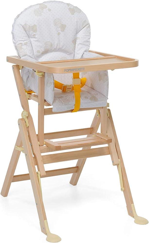 Foppapedretti il sediolone seggiolone per bimbo, naturale 9900020003