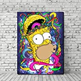 yaoxingfu Sin Marco Homer Cartoon As A Zombie Funny Wallpaper Wall Art Canvas Posters Prints ng Wall Pictures For Bedroom Home Decor Framework 60x90cm