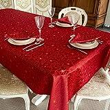 BGEUROPE - Mantel de Navidad – Tratamiento Anti Manchas - Ref. Christmas Star – Rojo, 59 x 118' (150 x 300cm) …